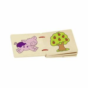Goki pegebog med dyr, legetøj og bondegård