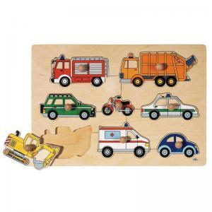 Goki puslespil biler & maskiner