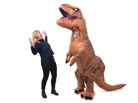 Oppusteligt T-Rex Kostume