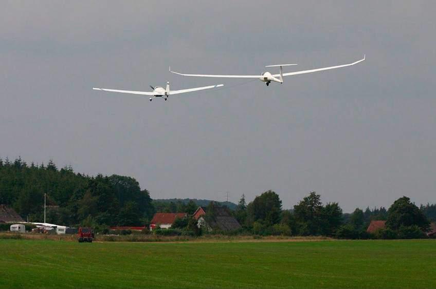 Svæveflyvning med flyslæb