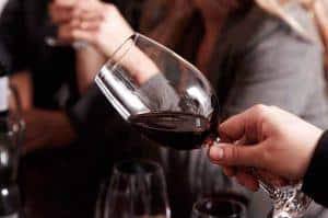 Vinsmagning slyng vinen