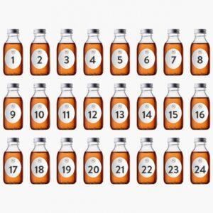 Rom Julekalender 24 x 100 ml Flasker Med Premium Rom