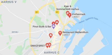 Gode Vinsmagning Århus Lokationer