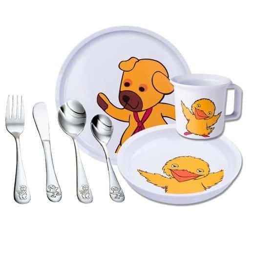 Børne Servicesæt Bamse & Kylling