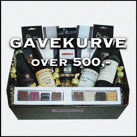 Gavekurve Over 500,-