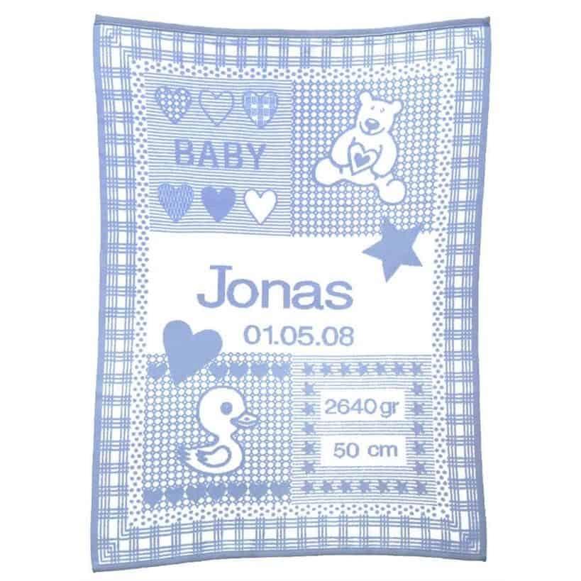 Økologisk Babytæppe Blå