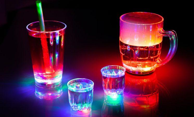 Blinkende Partyglas