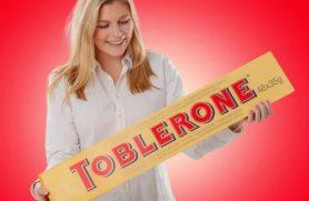 Gigantisk Chokolade Toblerone