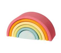 Grimms mellem regnbue i pastelfarver