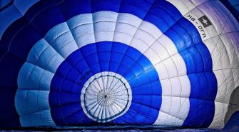 Smuk ballonflyvning over sjælland
